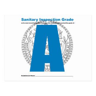 Grado sanitario de la inspección postal
