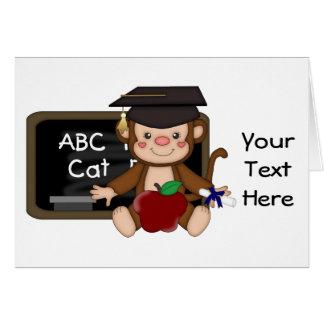 Graduación 1 (personalizable) del mono tarjeta de felicitación