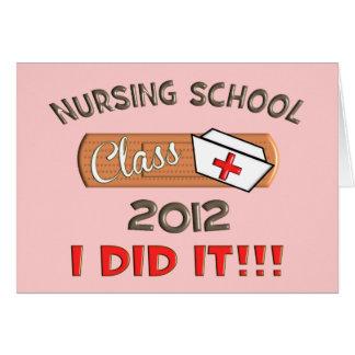 Graduación 2012 de la escuela de enfermería felicitacion