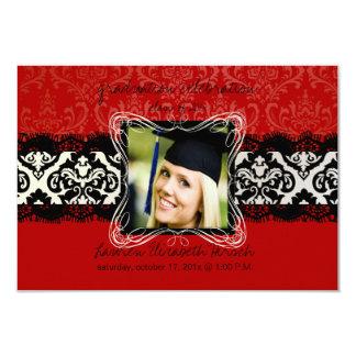 Graduación 2012 de PixDezines/damasco/color diy Invitación 8,9 X 12,7 Cm