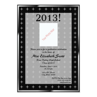 Graduación 2013 invitación 12,7 x 17,8 cm