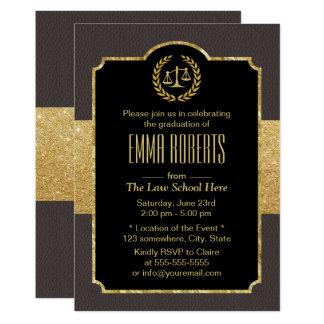 Graduación abogado elegante de Brown del colegio Invitación 12,7 X 17,8 Cm