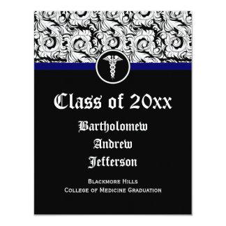 Graduación blanco y negro de la Facultad de Invitaciones Personalizada