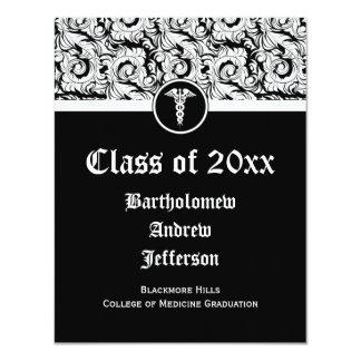 Graduación blanco y negro de la Facultad de Anuncio Personalizado