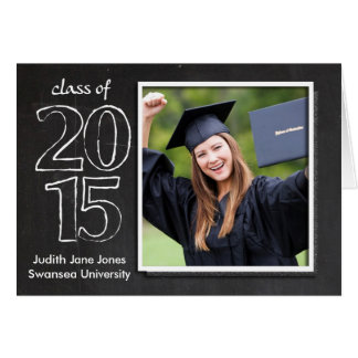 Graduación, clase graduada de la tarjeta 2015 de