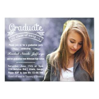 Graduación completa 2013 de la foto de la invitación 12,7 x 17,8 cm
