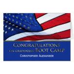 Graduación Congratulations-U.S.Flag de Boot Camp Tarjeta