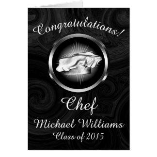 Graduación culinaria de la escuela personalizada tarjeta de felicitación