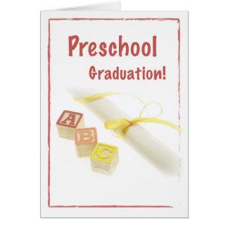 Graduación de 3735 preescolares tarjeta de felicitación