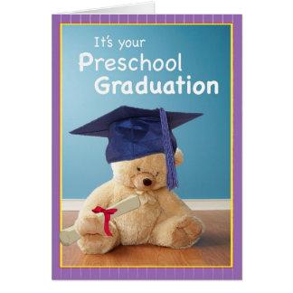 Graduación de 3746 preescolares tarjeta de felicitación