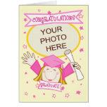 Graduación de encargo del preescolar/del chica de  felicitacion