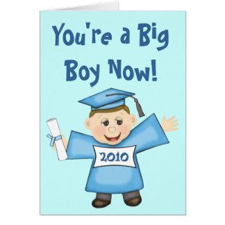 Graduación de encargo del preescolar/del muchacho tarjeta