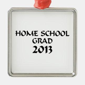 Graduación de la escuela de 2013 hogares adorno cuadrado plateado