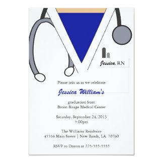 Graduación de la escuela de enfermería invitación 12,7 x 17,8 cm