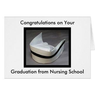 Graduación de la escuela de enfermería tarjetas