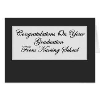 Graduación de la escuela de enfermería tarjeta de felicitación