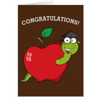 Graduación de la escuela o del doctorado tarjeta de felicitación