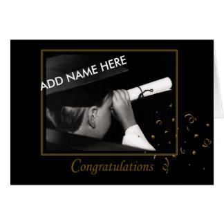 graduación de la escuela preescolar/primaria tarjeta de felicitación