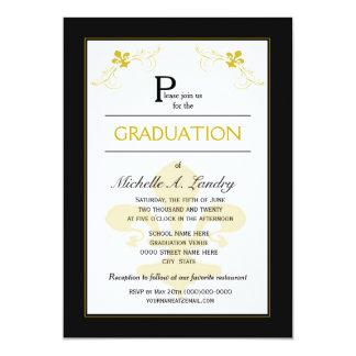 Graduación de la flor de lis de Florencia Invitación 12,7 X 17,8 Cm
