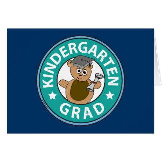 Graduación de la guardería tarjeta de felicitación