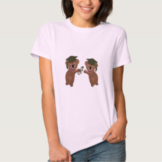 Graduación de la koala camisetas
