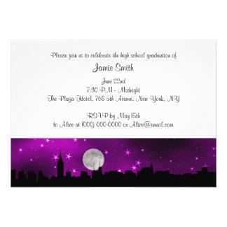 Graduación de la púrpura de la luna de la silueta