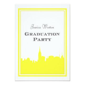 Graduación de la silueta #2 DIY del amarillo del Invitación 12,7 X 17,8 Cm