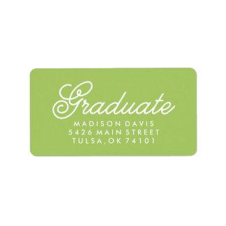Graduación de la verde lima el | del vintage etiqueta de dirección