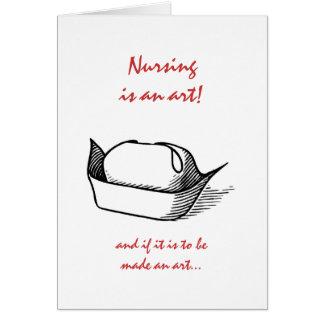Graduación de las enfermeras tarjeta