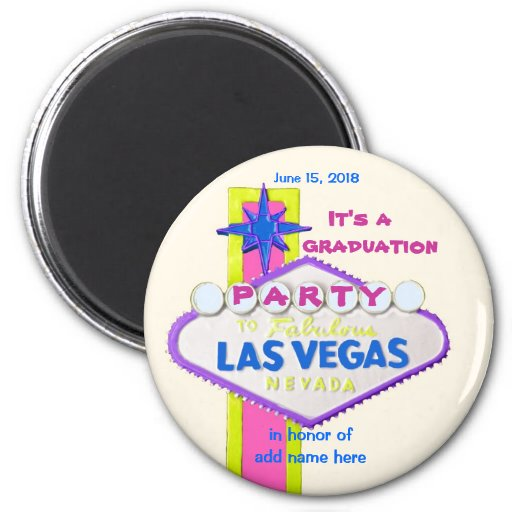 Graduación de Las Vegas Imán De Nevera