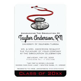 Graduación de moda de la Facultad de Medicina del Invitación 12,7 X 17,8 Cm