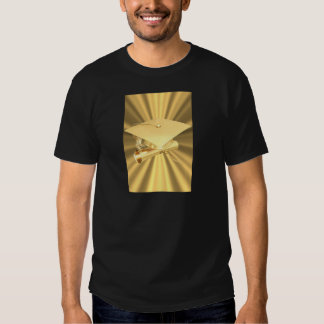 Graduación de oro camiseta