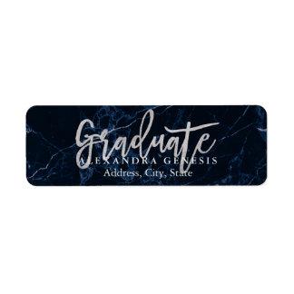Graduación de PixDezines/falsa fuente de plata de Etiqueta De Remitente
