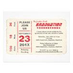 Graduación del boleto de la estrella de deportes,  invitación personalizada