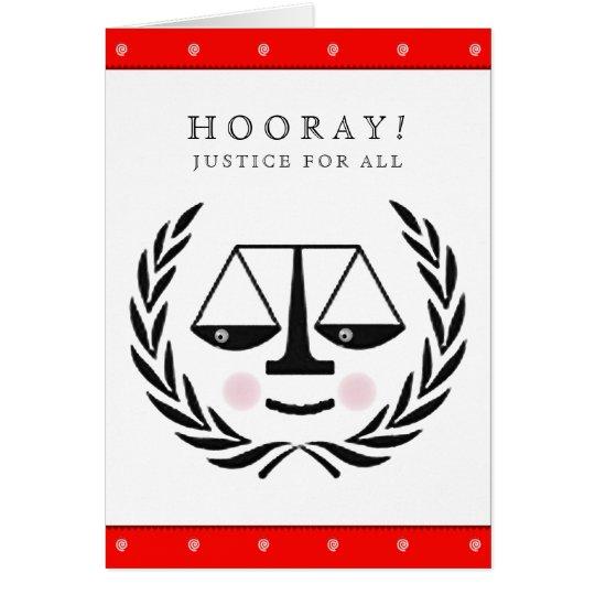 Graduación del colegio de abogados tarjeta de felicitación