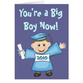 Graduación del preescolar/del muchacho de la tarjeta de felicitación