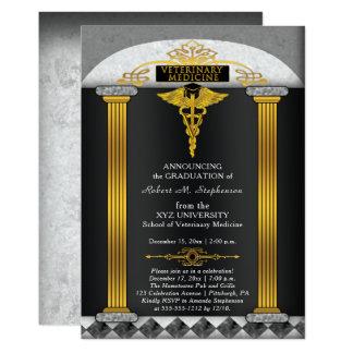 Graduación del veterinario de la veterinaría invitación 12,7 x 17,8 cm