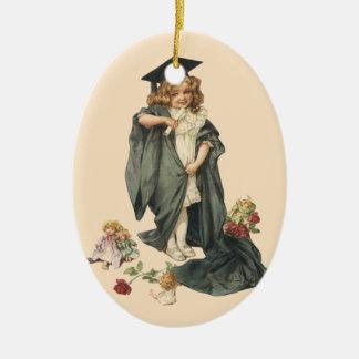 ¡Graduación del vintage, graduados de la Adorno Ovalado De Cerámica
