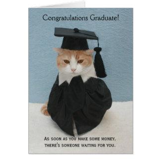 Graduación divertida felicitación
