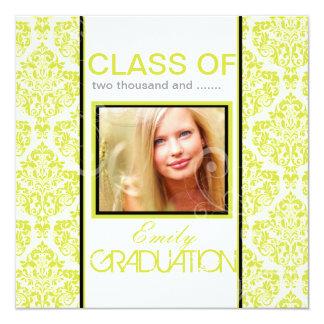Graduación diy 2012, damasco de PixDezines del Invitación 13,3 Cm X 13,3cm
