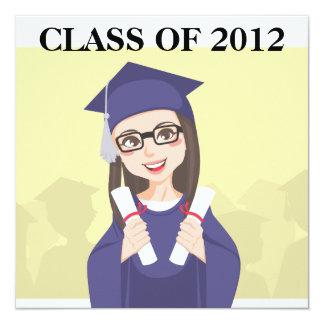 Graduación doble invitación 13,3 cm x 13,3cm