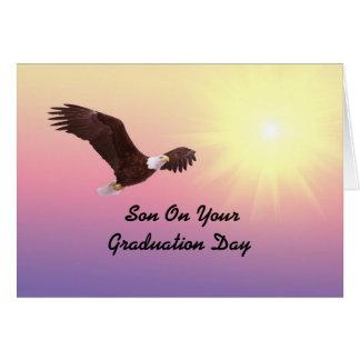 Graduación Eagle del hijo Tarjeta De Felicitación
