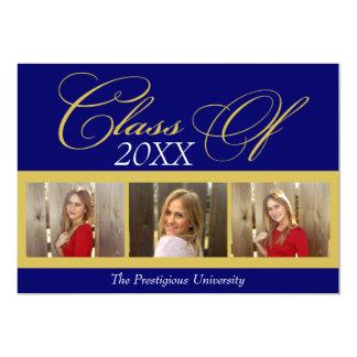 Graduación elegante de la universidad de la foto invitación 12,7 x 17,8 cm