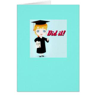 ¡Graduación ella la hizo! Tarjeta
