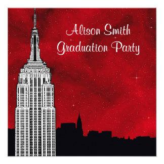 Graduación estrellada roja de la silueta del horiz anuncios