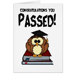 Graduación/exámenes - PA de la graduación de la Tarjeta