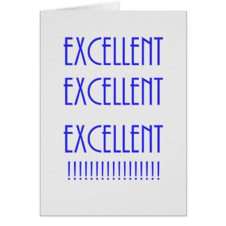 Graduación/excelente Tarjeta De Felicitación