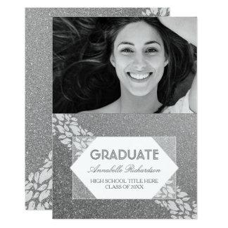 Graduación fabulosa de la foto del laurel de las invitación 12,7 x 17,8 cm