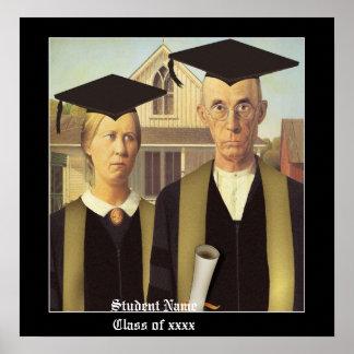 Graduación gótica americana póster
