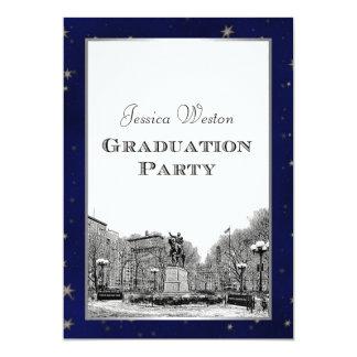 Graduación grabada al agua fuerte Sq de BG de la Invitación 12,7 X 17,8 Cm